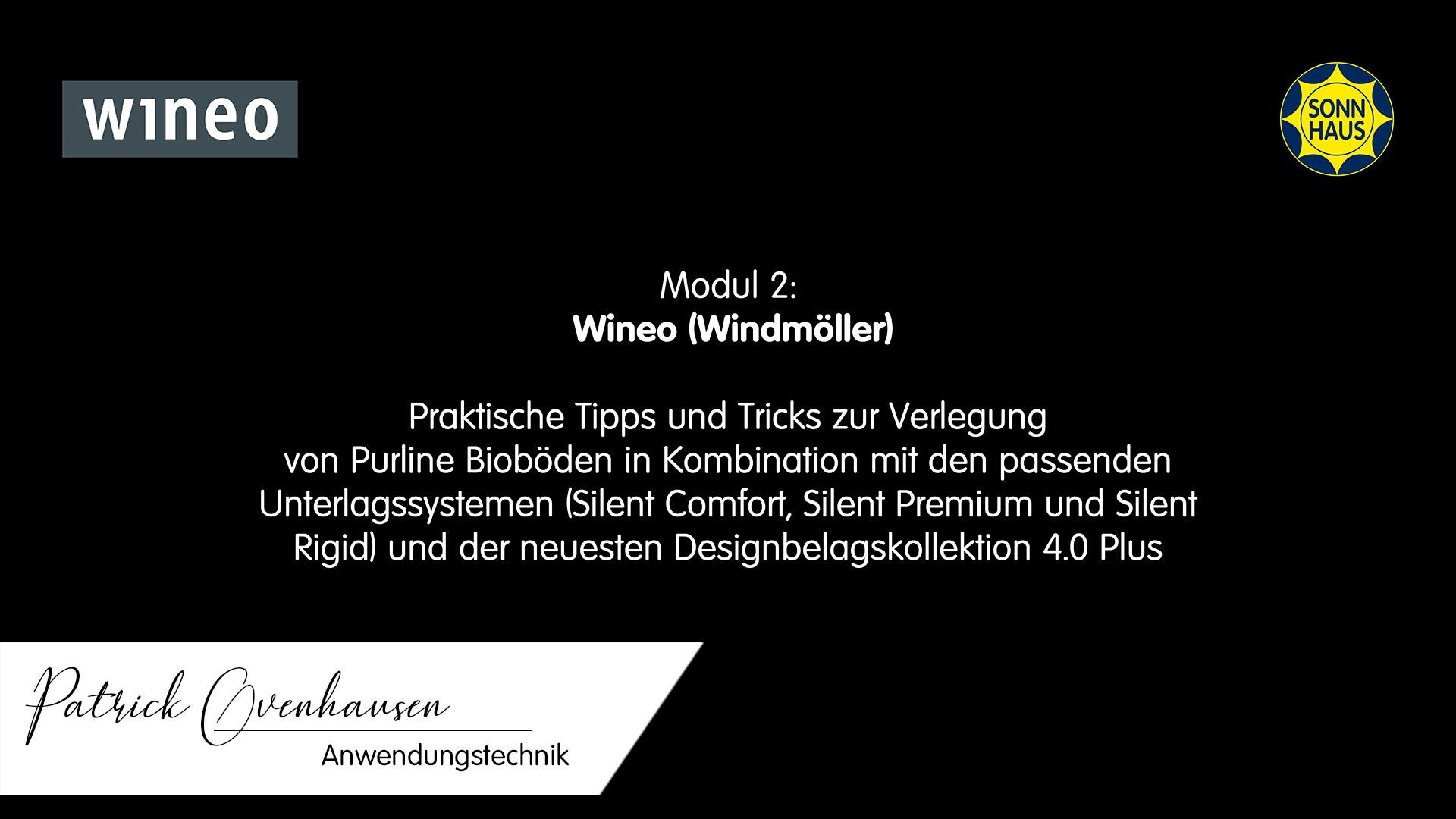 SONNAKADEMIE Bodenschulung » Modul 2: Wineo