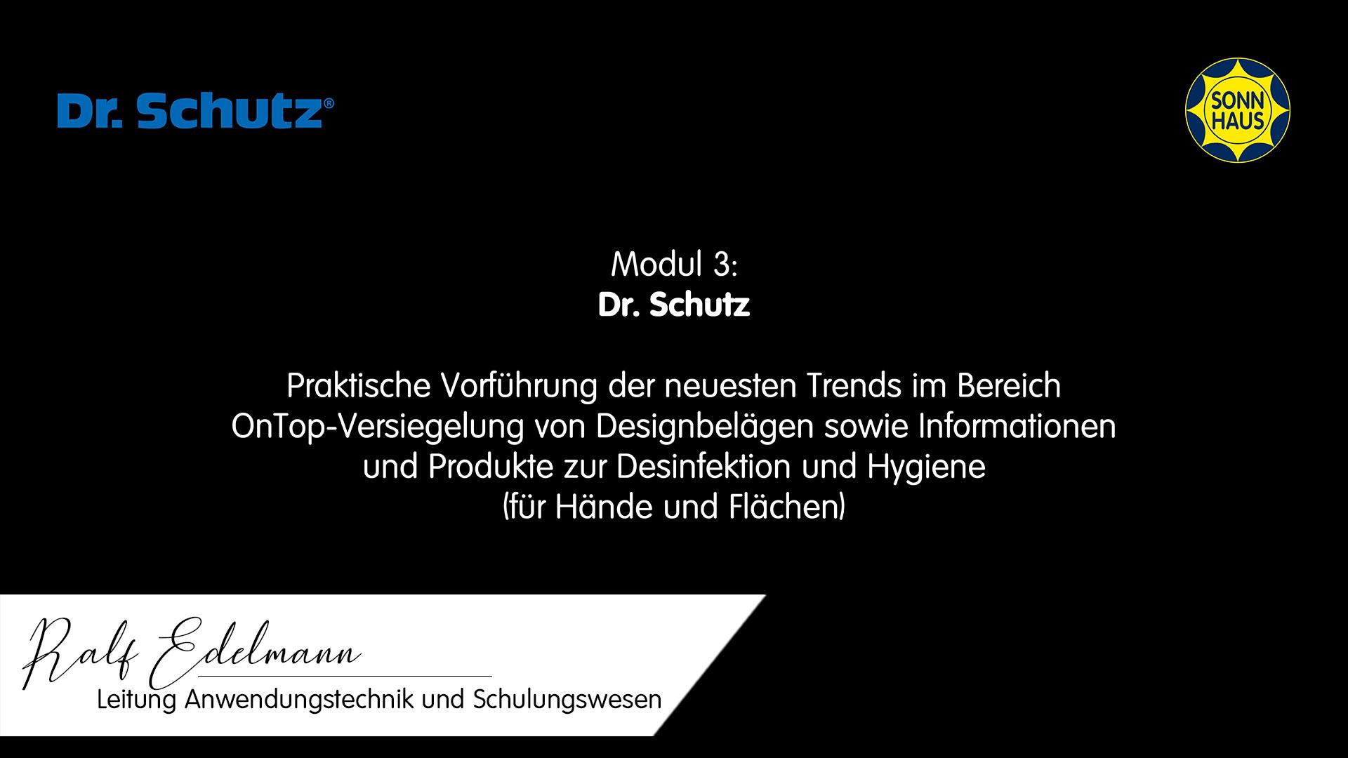 SONNAKADEMIE Bodenschulung » Modul 3: Dr. Schutz